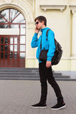 Teenage Boy Traveler  Royalty Free Stock Photos