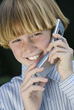 Teenage Boy Using Cell Phone Stock Images