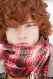 Teenage Boy Wearing Winter Clothes Stock Photo