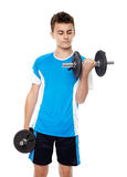 Teenage boy working out Stock Photos