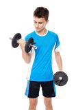 Teenage boy working out Stock Photography