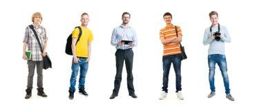 Teenage boys isolated on white Stock Photos