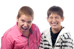 Teenage boys having fun Royalty Free Stock Photo