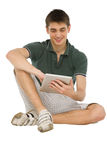 Teenage boys using tablet Royalty Free Stock Photography