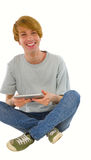 Teenage boys using tablet Royalty Free Stock Image