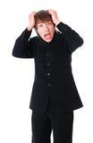 Teenage businessman is shocked Royalty Free Stock Photo