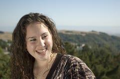 Teenage Caucasian girl smiling Stock Images