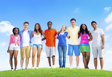 Teenage Celebration Friendship Togetherness Unity Concept Royalty Free Stock Photos