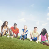 Teenage Celebration Friendship Togetherness Unity Concept Stock Photography