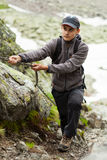 Teenage climber Stock Images