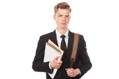 Teenage college student Stock Photo