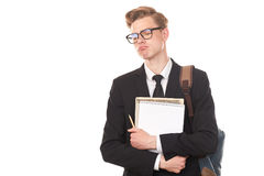 Teenage college student Royalty Free Stock Images