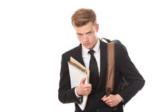 Teenage college student Stock Images