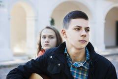 Teenage conflict Stock Photos