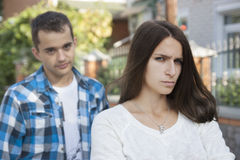 Teenage conflict Royalty Free Stock Images