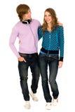 Teenage couple Stock Photo