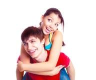Teenage couple Stock Images