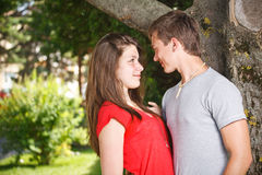 Teenage couple Stock Image