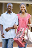 Teenage Couple. Smiling At Camera Royalty Free Stock Photography