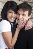 Teenage couple embracing Royalty Free Stock Photo