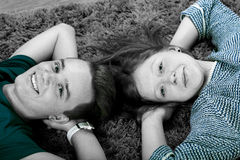 Teenage couple Royalty Free Stock Photos
