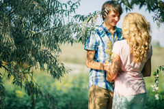 Teenage couple first date Royalty Free Stock Images