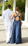 Teenage Couple Going to the Prom Walking Away Royalty Free Stock Images