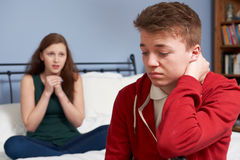 Teenage Couple Having Relationship Difficulties Royalty Free Stock Image