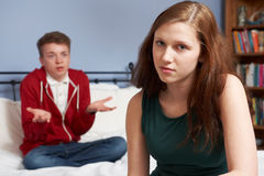 Teenage Couple Having Relationship Difficulties Stock Photo