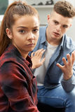 Teenage Couple Having Relationship Difficulties Royalty Free Stock Photos