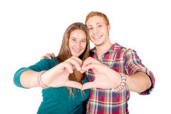 Teenage couple Stock Photo