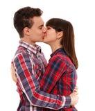 Teenage couple kissing Royalty Free Stock Image