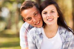 Teenage couple portrait Stock Image