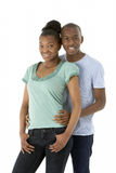 Teenage Couple In Studio Stock Images