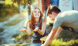 Teenage couple together. Stock Images
