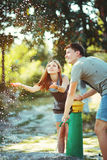 Teenage couple together. Royalty Free Stock Images