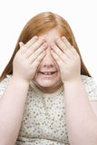 Teenage Covering Eyes Stock Photography