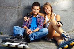 Teenage dates Stock Photos