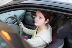 Teenage driver Royalty Free Stock Photos