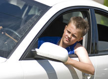 Teenage driver Royalty Free Stock Photos