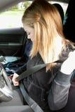 Teenage driver Stock Image