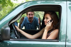 Teenage driving Stock Photo
