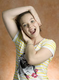 Teenage expression. Royalty Free Stock Images