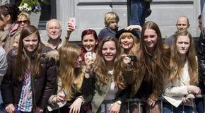 Teenage Fans Royalty Free Stock Photos