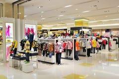 Teenage fashion clothing store Stock Photo
