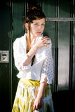 Teenage fashion girl on location Stock Photography