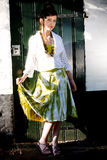 Teenage fashion girl on location Royalty Free Stock Photo
