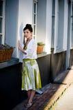 Teenage fashion girl on location Royalty Free Stock Photography