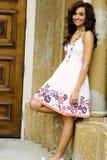 Teenage Fashion Model. Very pretty brunette female teen fashion model Royalty Free Stock Photography