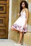 Teenage Fashion Model. Very pretty brunette female teen fashion model Stock Photo